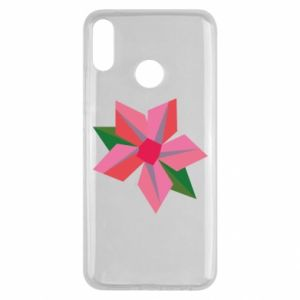 Etui na Huawei Y9 2019 Pink flower abstraction