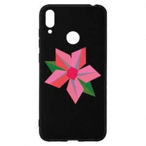 Etui na Huawei Y7 2019 Pink flower abstraction