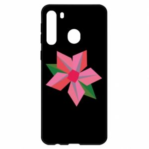 Etui na Samsung A21 Pink flower abstraction