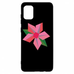 Etui na Samsung A31 Pink flower abstraction