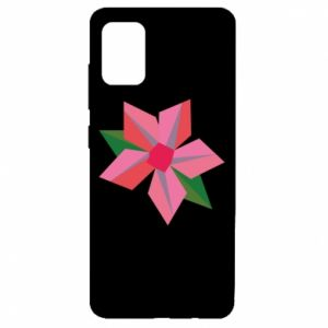 Etui na Samsung A51 Pink flower abstraction