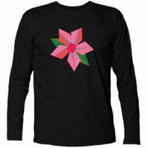 Long Sleeve T-shirt Pink flower abstraction - PrintSalon
