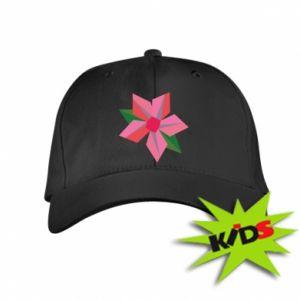 Kids' cap Pink flower abstraction - PrintSalon