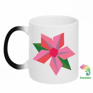 Chameleon mugs Pink flower abstraction