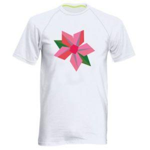 Men's sports t-shirt Pink flower abstraction - PrintSalon