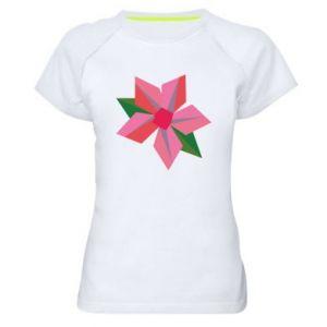 Women's sports t-shirt Pink flower abstraction - PrintSalon