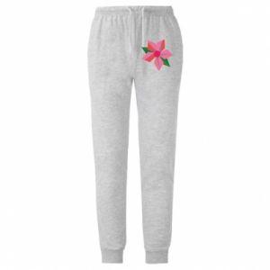 Męskie spodnie lekkie Pink flower abstraction
