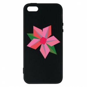 Etui na iPhone 5/5S/SE Pink flower abstraction