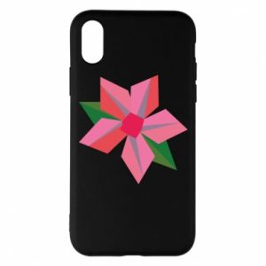 Etui na iPhone X/Xs Pink flower abstraction