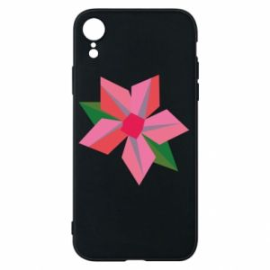 Etui na iPhone XR Pink flower abstraction