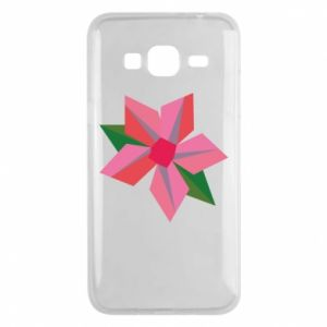 Etui na Samsung J3 2016 Pink flower abstraction