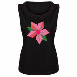 Women's t-shirt Pink flower abstraction - PrintSalon