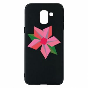 Etui na Samsung J6 Pink flower abstraction