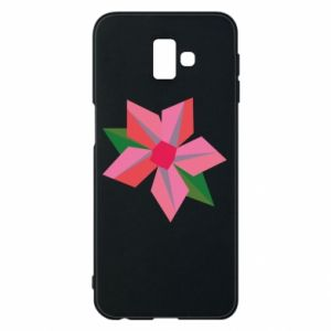 Etui na Samsung J6 Plus 2018 Pink flower abstraction