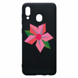 Etui na Samsung A20 Pink flower abstraction