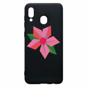 Etui na Samsung A30 Pink flower abstraction
