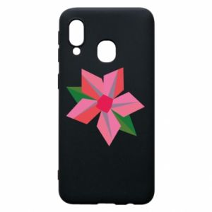 Etui na Samsung A40 Pink flower abstraction