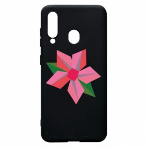 Etui na Samsung A60 Pink flower abstraction