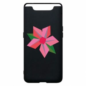 Etui na Samsung A80 Pink flower abstraction
