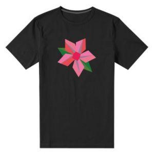 Men's premium t-shirt Pink flower abstraction - PrintSalon