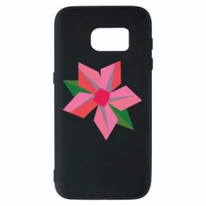Etui na Samsung S7 Pink flower abstraction