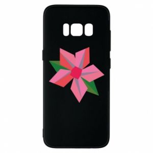 Etui na Samsung S8 Pink flower abstraction