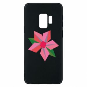Etui na Samsung S9 Pink flower abstraction