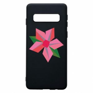 Etui na Samsung S10 Pink flower abstraction