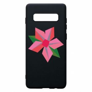 Etui na Samsung S10+ Pink flower abstraction