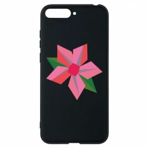 Etui na Huawei Y6 2018 Pink flower abstraction