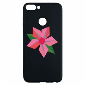 Etui na Huawei P Smart Pink flower abstraction