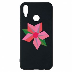 Etui na Huawei P Smart Plus Pink flower abstraction