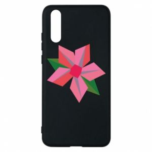 Etui na Huawei P20 Pink flower abstraction
