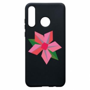 Etui na Huawei P30 Lite Pink flower abstraction