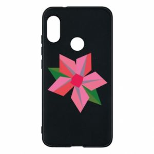 Etui na Mi A2 Lite Pink flower abstraction