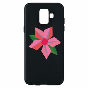 Etui na Samsung A6 2018 Pink flower abstraction