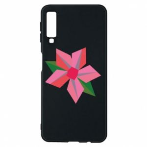 Etui na Samsung A7 2018 Pink flower abstraction