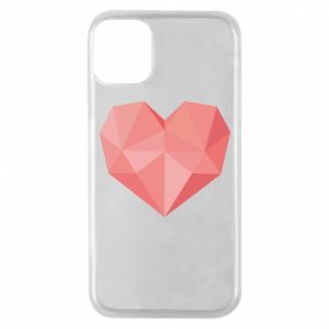 Etui na iPhone 11 Pro Pink heart graphics