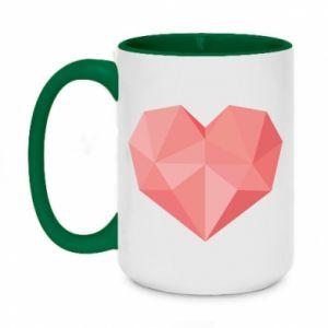 Kubek dwukolorowy 450ml Pink heart graphics