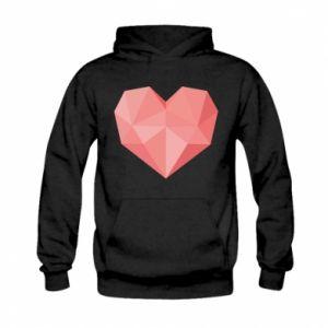 Bluza z kapturem dziecięca Pink heart graphics