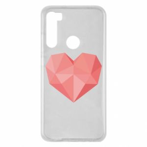 Etui na Xiaomi Redmi Note 8 Pink heart graphics