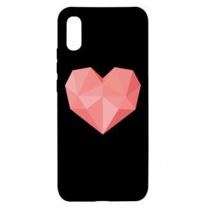 Etui na Xiaomi Redmi 9a Pink heart graphics