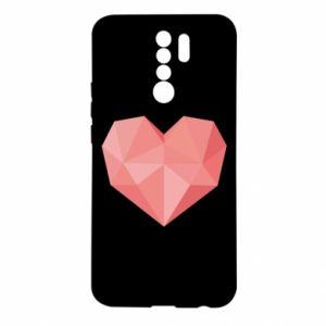 Etui na Xiaomi Redmi 9 Pink heart graphics