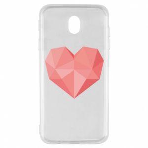 Etui na Samsung J7 2017 Pink heart graphics