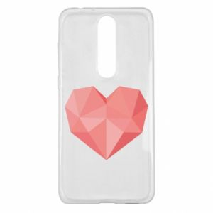 Etui na Nokia 5.1 Plus Pink heart graphics
