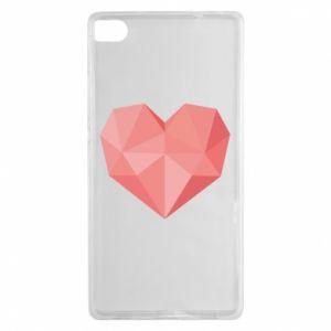 Etui na Huawei P8 Pink heart graphics