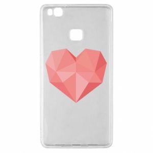 Etui na Huawei P9 Lite Pink heart graphics