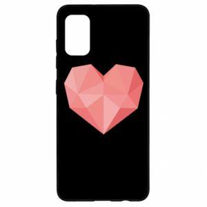 Etui na Samsung A41 Pink heart graphics