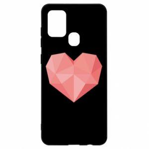 Etui na Samsung A21s Pink heart graphics