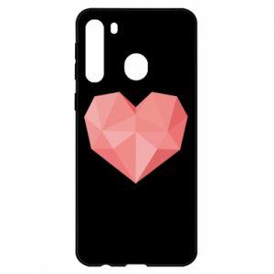 Etui na Samsung A21 Pink heart graphics